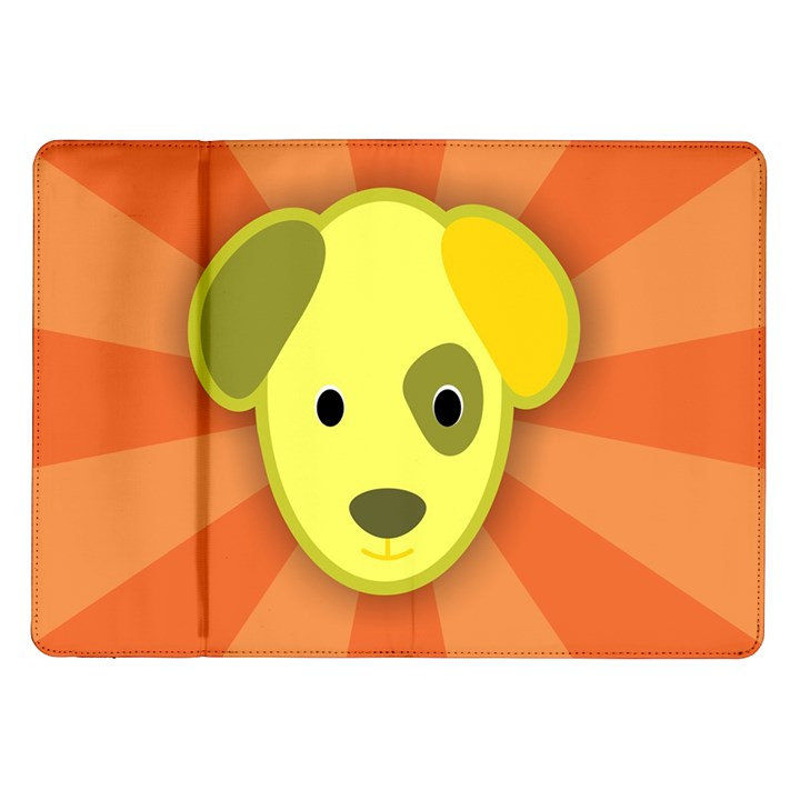 Adoption Animal Bark Boarding Samsung Galaxy Tab 10.1  P7500 Flip Case