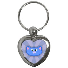 Advertise Animal Boarding Cat Key Chains (heart)