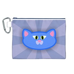Advertise Animal Boarding Cat Canvas Cosmetic Bag (l)
