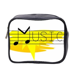 Music Dance Abstract Clip Art Mini Toiletries Bag 2 Side