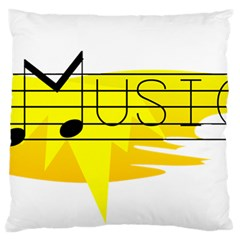 Music Dance Abstract Clip Art Large Flano Cushion Case (one Side)