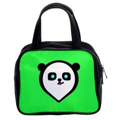 Panda Bear Classic Handbags (2 Sides)