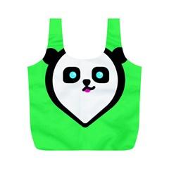 Panda Bear Full Print Recycle Bags (m)