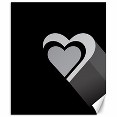 Heart Love Black And White Symbol Canvas 20  X 24