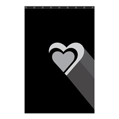 Heart Love Black And White Symbol Shower Curtain 48  X 72  (small)
