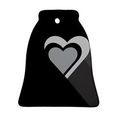 Heart Love Black And White Symbol Ornament (bell)