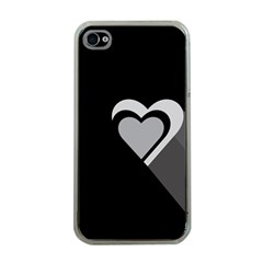 Heart Love Black And White Symbol Apple Iphone 4 Case (clear)