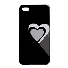 Heart Love Black And White Symbol Apple Iphone 4/4s Seamless Case (black)
