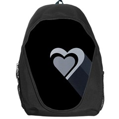 Heart Love Black And White Symbol Backpack Bag