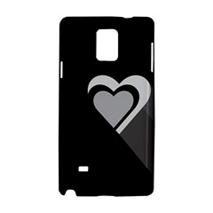 Heart Love Black And White Symbol Samsung Galaxy Note 4 Hardshell Case