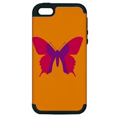 Butterfly Wings Insect Nature Apple Iphone 5 Hardshell Case (pc+silicone)