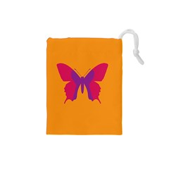 Butterfly Wings Insect Nature Drawstring Pouches (small)