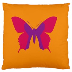 Butterfly Wings Insect Nature Large Flano Cushion Case (two Sides)