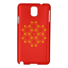 Pentagon Cells Chemistry Yellow Samsung Galaxy Note 3 N9005 Hardshell Case