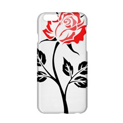 Flower Rose Contour Outlines Black Apple Iphone 6/6s Hardshell Case