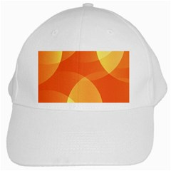 Abstract Orange Yellow Red Color White Cap