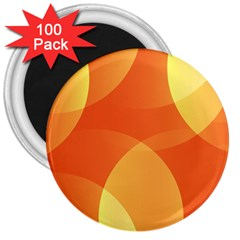 Abstract Orange Yellow Red Color 3  Magnets (100 Pack)