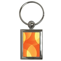 Abstract Orange Yellow Red Color Key Chains (rectangle)