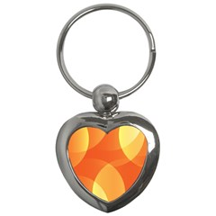 Abstract Orange Yellow Red Color Key Chains (heart)