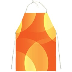 Abstract Orange Yellow Red Color Full Print Aprons