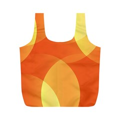 Abstract Orange Yellow Red Color Full Print Recycle Bags (m)