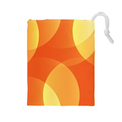 Abstract Orange Yellow Red Color Drawstring Pouches (large)