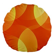 Abstract Orange Yellow Red Color Large 18  Premium Flano Round Cushions