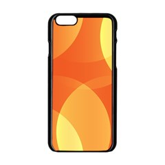 Abstract Orange Yellow Red Color Apple Iphone 6/6s Black Enamel Case