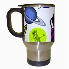 Space Clip Art Aliens Space Craft Travel Mugs (white)