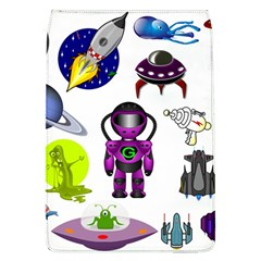 Space Clip Art Aliens Space Craft Flap Covers (l)
