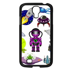Space Clip Art Aliens Space Craft Samsung Galaxy S4 I9500/ I9505 Case (black)