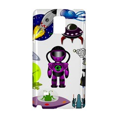 Space Clip Art Aliens Space Craft Samsung Galaxy Note 4 Hardshell Case