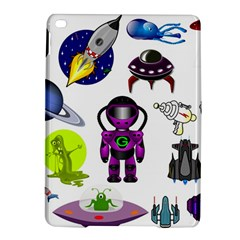 Space Clip Art Aliens Space Craft Ipad Air 2 Hardshell Cases