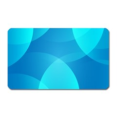 Abstract Blue Wallpaper Wave Magnet (rectangular)