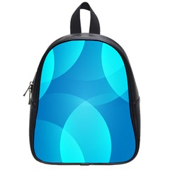 Abstract Blue Wallpaper Wave School Bag (small)