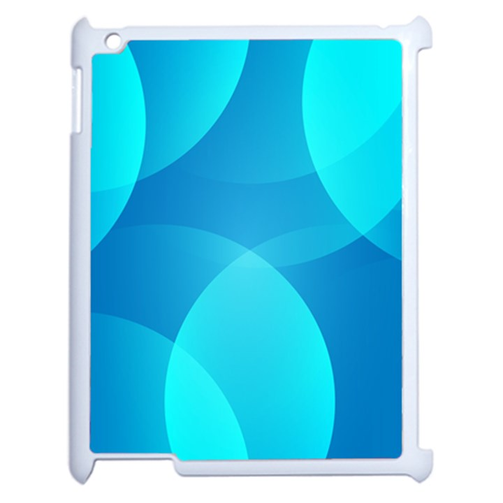 Abstract Blue Wallpaper Wave Apple iPad 2 Case (White)