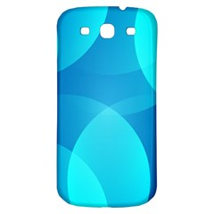 Abstract Blue Wallpaper Wave Samsung Galaxy S3 S Iii Classic Hardshell Back Case