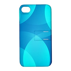 Abstract Blue Wallpaper Wave Apple Iphone 4/4s Hardshell Case With Stand
