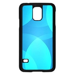Abstract Blue Wallpaper Wave Samsung Galaxy S5 Case (black)