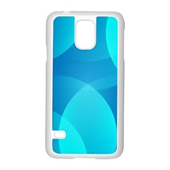Abstract Blue Wallpaper Wave Samsung Galaxy S5 Case (white)