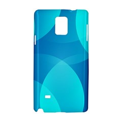 Abstract Blue Wallpaper Wave Samsung Galaxy Note 4 Hardshell Case