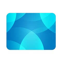 Abstract Blue Wallpaper Wave Double Sided Flano Blanket (mini)