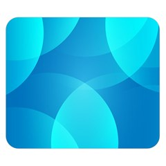 Abstract Blue Wallpaper Wave Double Sided Flano Blanket (small)