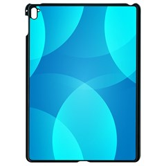 Abstract Blue Wallpaper Wave Apple Ipad Pro 9 7   Black Seamless Case
