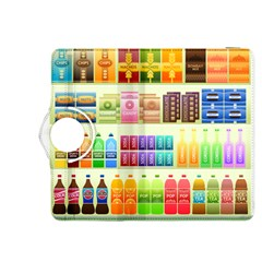 Supermarket Shelf Products Snacks Kindle Fire Hdx 8 9  Flip 360 Case