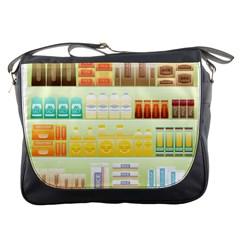 Supermarket Shelf Coffee Tea Grains Messenger Bags