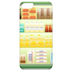 Supermarket Shelf Coffee Tea Grains Apple Iphone 5 Classic Hardshell Case