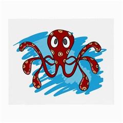 Octopus Sea Ocean Cartoon Animal Small Glasses Cloth (2 Side)