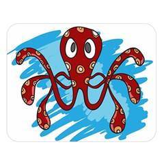 Octopus Sea Ocean Cartoon Animal Double Sided Flano Blanket (large)