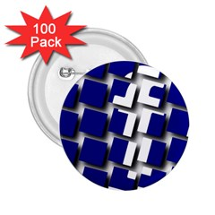 Facebook Social Media Network Blue 2 25  Buttons (100 Pack)